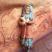 Куклы и игрушки ручной работы. Ярмарка Мастеров - ручная работа Ватная игрушка, Катюша с собачкой. Handmade.