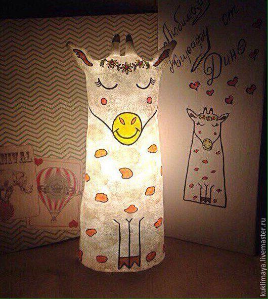 """Освещение ручной работы. Ярмарка Мастеров - ручная работа. Купить Светильник-ночник """"Жираф-Скромняшка"""". Handmade. Оранжевый, жираф, жирафик"""