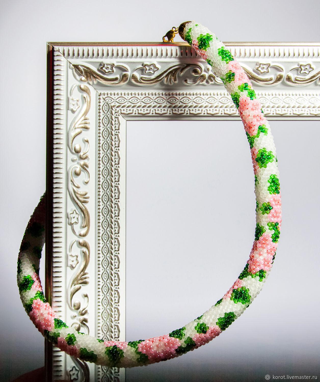 Розовые цветы, Колье, Ульяновск, Фото №1