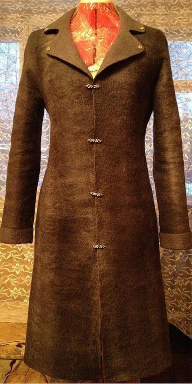 """Верхняя одежда ручной работы. Ярмарка Мастеров - ручная работа. Купить Пальто демисезонное """"Прогулка по Парижу"""". Handmade. Темно-серый"""
