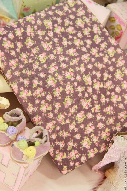 Куклы и игрушки ручной работы. Ярмарка Мастеров - ручная работа. Купить Ткань хлопок №147  с мелким рисунком. Handmade. Комбинированный