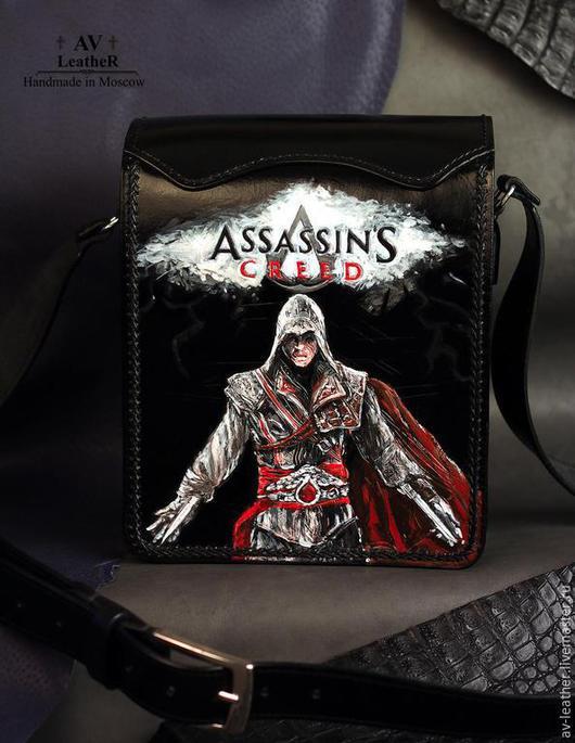 """Мужские сумки ручной работы. Ярмарка Мастеров - ручная работа. Купить Сумка """" Assassin's Creed"""". Handmade. Черный"""