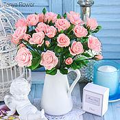 Цветы и флористика ручной работы. Ярмарка Мастеров - ручная работа Кустовые розы ручной работы (розовые). Handmade.
