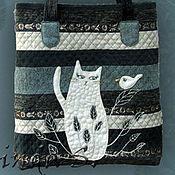 """Сумки и аксессуары ручной работы. Ярмарка Мастеров - ручная работа сумка """"Белый кот"""". Handmade."""