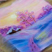 """Картины и панно ручной работы. Ярмарка Мастеров - ручная работа Картина """"Розовая дымка"""". Handmade."""