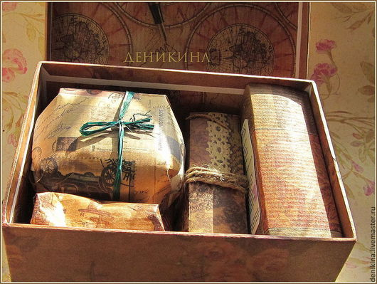 Подарочные наборы косметики ручной работы. Ярмарка Мастеров - ручная работа. Купить Набор подарочный для Мужчин. Handmade. Коричневый
