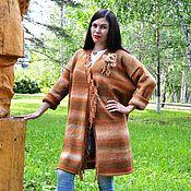 Одежда ручной работы. Ярмарка Мастеров - ручная работа Кардиган теплый Рыжая осень. Handmade.