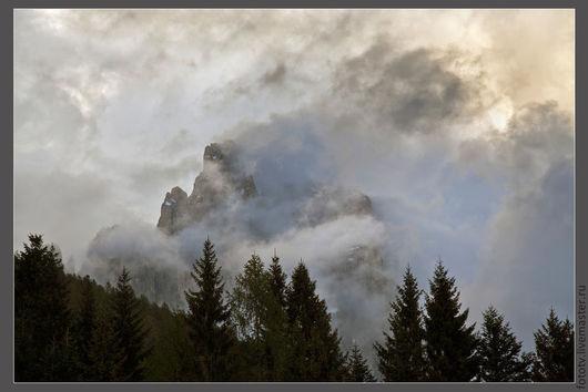 Фотокартины ручной работы. Ярмарка Мастеров - ручная работа. Купить Закат в горах. Handmade. Пейзаж, облака, закат, таинственный, тучи