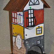 """Для дома и интерьера ручной работы. Ярмарка Мастеров - ручная работа Чайный домик  """"В стиле Хундертвассера """"2. Handmade."""