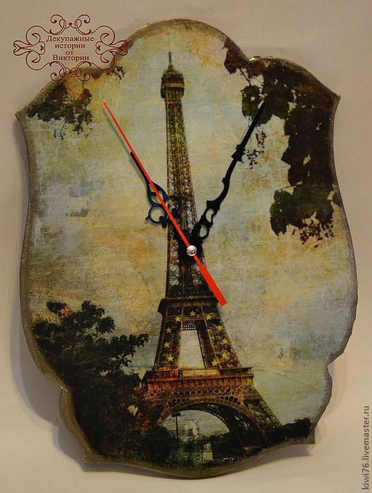 "Часы для дома ручной работы. Ярмарка Мастеров - ручная работа. Купить Часы ""Париж, Париж...."".. Handmade. Часы"