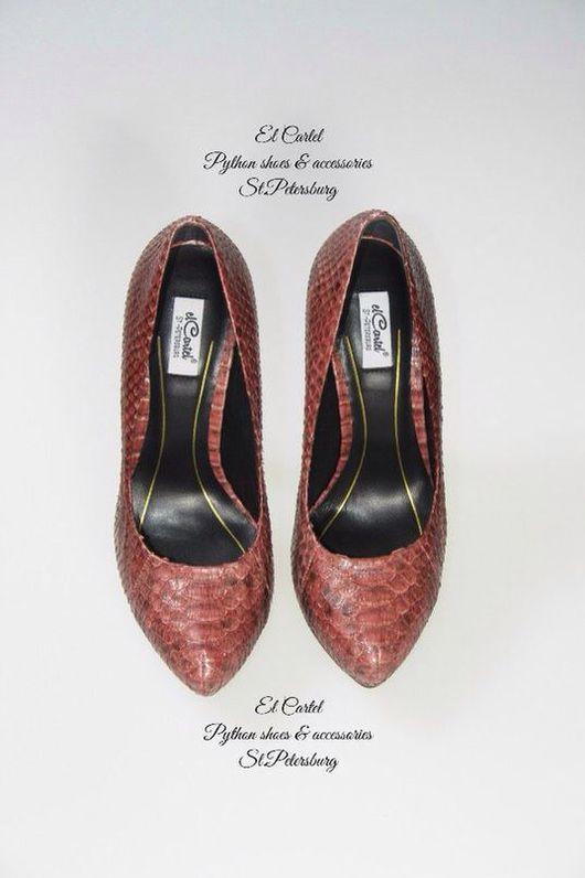 Обувь ручной работы. Ярмарка Мастеров - ручная работа. Купить Туфли из питона. Handmade. Туфли, питон недорого, питон