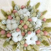 Цветы и флористика ручной работы. Ярмарка Мастеров - ручная работа «Пастель» букет из сухоцветов. Handmade.