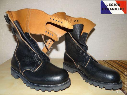 Обувь ручной работы. Ярмарка Мастеров - ручная работа. Купить Ботинки Французского легиона М1965. Handmade. Черный, воловья кожа
