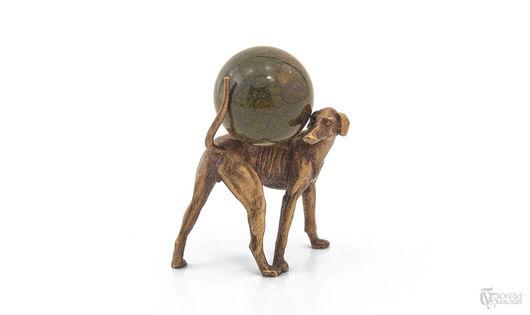 Статуэтки ручной работы. Ярмарка Мастеров - ручная работа. Купить Левретка с шаром. Handmade. Собака, собаки, левретка, статуэтки из металла