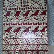 Русский стиль handmade. Livemaster - original item Cutting board, Mezen. Handmade.