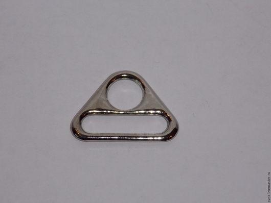 Шитье ручной работы. Ярмарка Мастеров - ручная работа. Купить Полукольцо 25 мм, металл, никель, под серебро, треугольное. Handmade.
