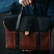 """Мужская сумка ручной работы. Ярмарка Мастеров - ручная работа Кожаный портфель tid (13"""") ( сумка, мужская сумка, мужской портфель). Handmade."""