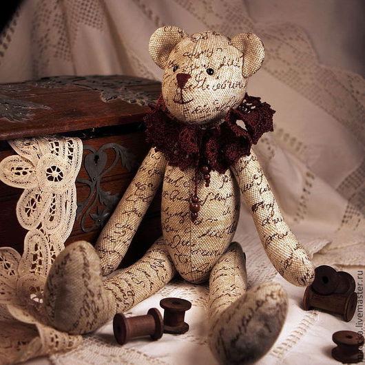 Куклы Тильды ручной работы. Ярмарка Мастеров - ручная работа. Купить Тильда мишка винтажный. Handmade. Коричневый, хлорофайбер