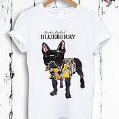 Одежда handmade. Livemaster - original item Cotton print t-shirt Blubbery Dog TEE10023CT. Handmade.