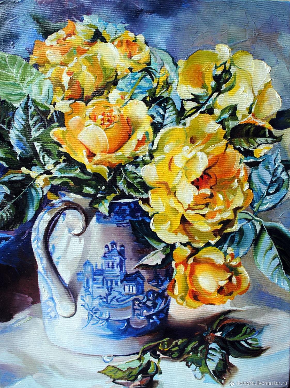 """""""Букетик желтых роз"""", Картины, Таганрог,  Фото №1"""
