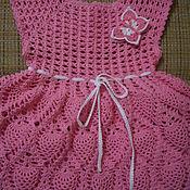 Работы для детей, ручной работы. Ярмарка Мастеров - ручная работа Платье Розовое с ананасами. Handmade.