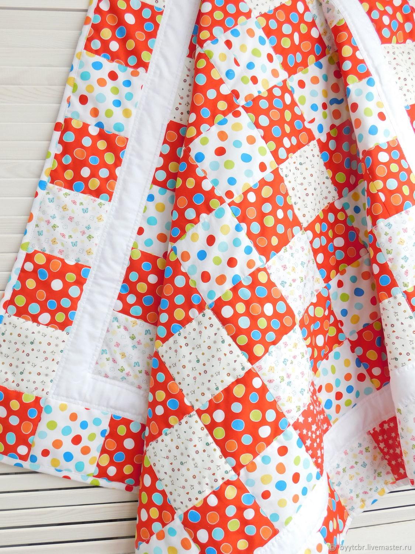 Детское лоскутное одеяло КАЛИНКА-МАЛИНКА, Одеяло для детей, Москва,  Фото №1