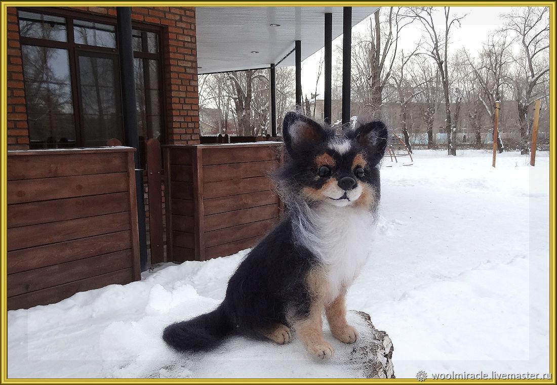 ЛЮСИ. Собачка из шерсти, Войлочная игрушка, Орск,  Фото №1