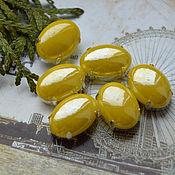 Материалы для творчества handmade. Livemaster - original item Mother of pearl rhinestone Lemon oval 13h18 mm. Handmade.