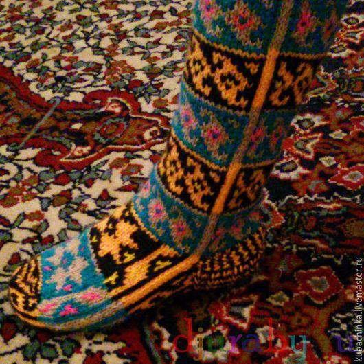 Обувь ручной работы. Ярмарка Мастеров - ручная работа. Купить Джурабы Гольфы теплые носки женские и мужские. Handmade. Разноцветный