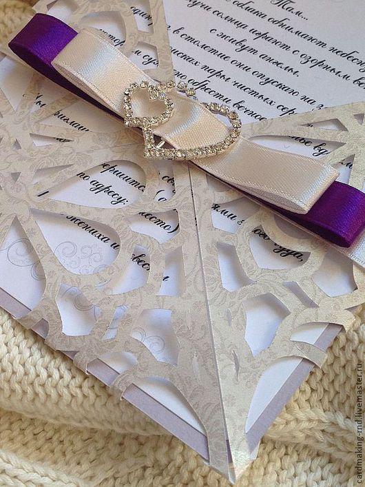 Свадебные аксессуары ручной работы. Ярмарка Мастеров - ручная работа. Купить Приглашение на свадьбу. Handmade. Приглашения на свадьбу, приглашения, хендмейд