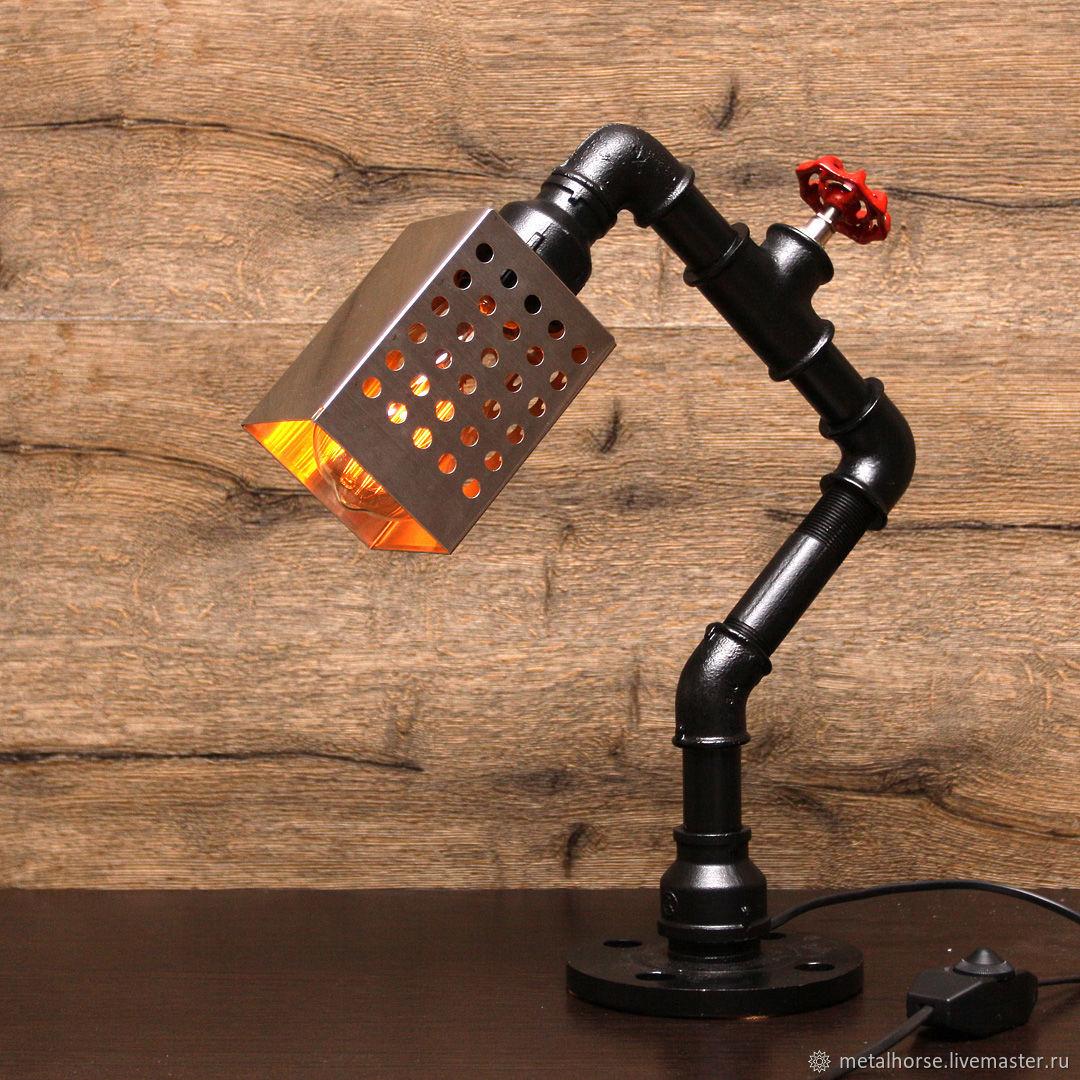 Настольная лампа в стиле лофт, индастриал, стимпанк, ретро, Освещение, Москва, Фото №1