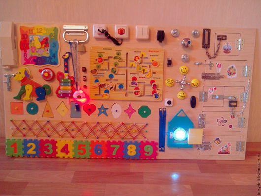 Развивающие игрушки ручной работы. Ярмарка Мастеров - ручная работа. Купить Новый бизиборд. Handmade. Фуксия, бизиборды, бизиборд на заказ