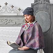 """Одежда ручной работы. Ярмарка Мастеров - ручная работа Пончо """" В фиолетовом тумане"""". Handmade."""