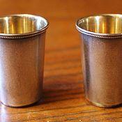 Винтаж handmade. Livemaster - original item Two silver stacks with gilt, 875 Zvezda Ave., USSR. Handmade.