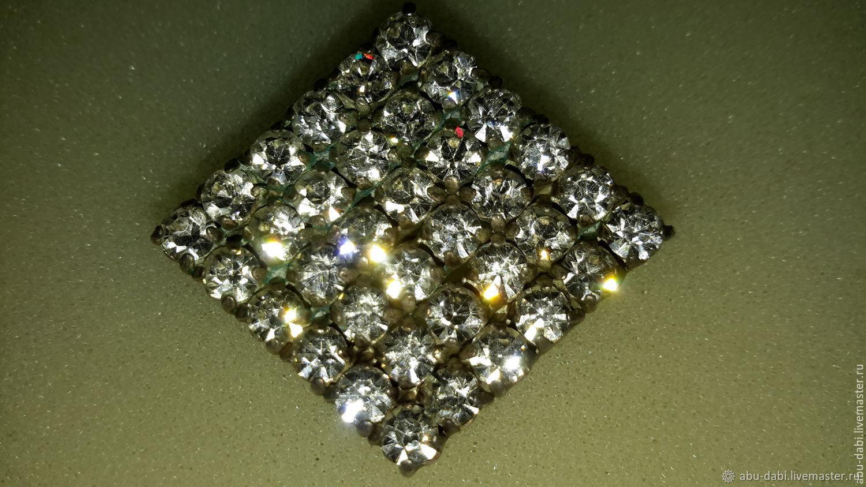 Brooch 'DIAMONDS' LENINGRAD 1961 vintage USSR LUXURY!New, Vintage brooches, Moscow,  Фото №1