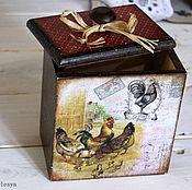 """Для дома и интерьера ручной работы. Ярмарка Мастеров - ручная работа Короб для сыпучих """"Птичий двор"""". Handmade."""