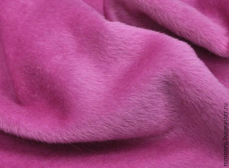 Fabric for a natural fur coat (Alpaca, wool) pink, Fabric, Podolsk,  Фото №1