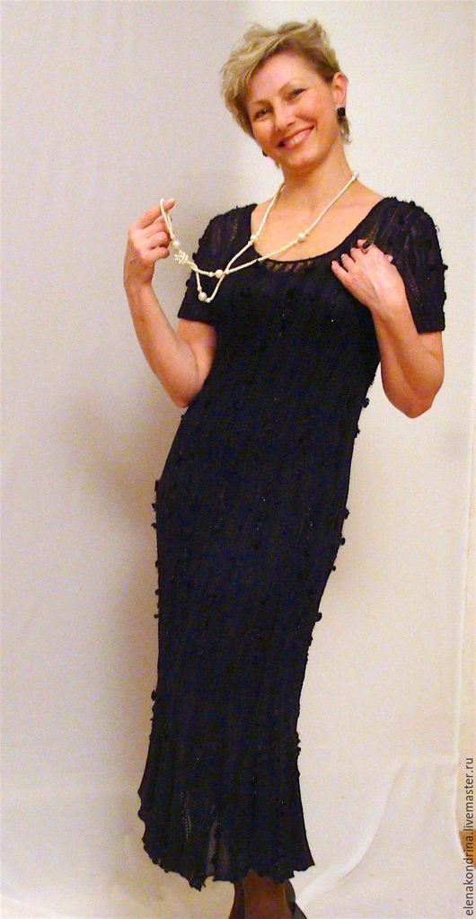 """Платья ручной работы. Ярмарка Мастеров - ручная работа. Купить Платье""""Черным по черному"""". Handmade. Черный, шерсть"""