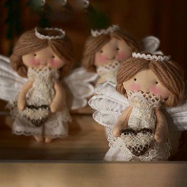 Куклы и игрушки ручной работы. Ярмарка Мастеров - ручная работа Текстильный Ангелочек 16 см. Handmade.