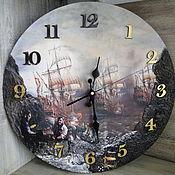 """Для дома и интерьера ручной работы. Ярмарка Мастеров - ручная работа Часы """"Пираты"""". Handmade."""