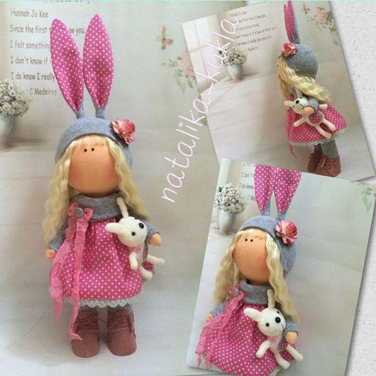 Коллекционные куклы ручной работы. Ярмарка Мастеров - ручная работа. Купить Интерьерная кукла. Handmade. Розовый, кукла текстильная