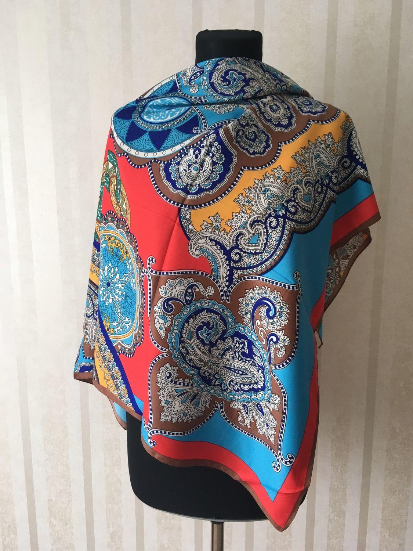 0e85db749a09 Купить Винтаж  Шелковый платок Винтажная одежда и аксессуары. Винтаж   Шелковый платок Etro 100 100. Олеся. ...