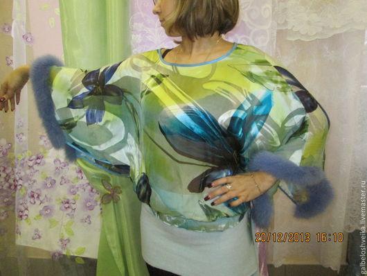 Блузки ручной работы. Ярмарка Мастеров - ручная работа. Купить Блузон. Handmade. Блуза из шелка, шёлк