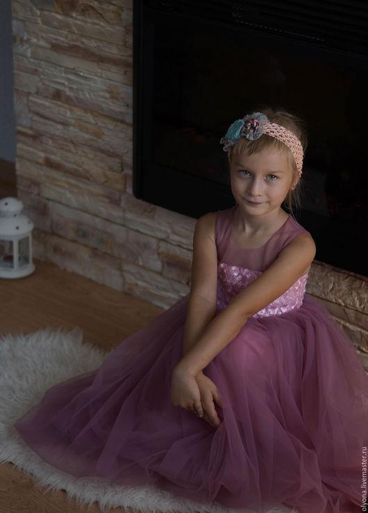 Одежда для девочек, ручной работы. Ярмарка Мастеров - ручная работа. Купить детское платье. Handmade. Однотонный, платье для девочки, празднгик