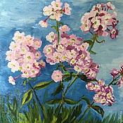 """Картины и панно ручной работы. Ярмарка Мастеров - ручная работа """"Флоксы"""". Handmade."""
