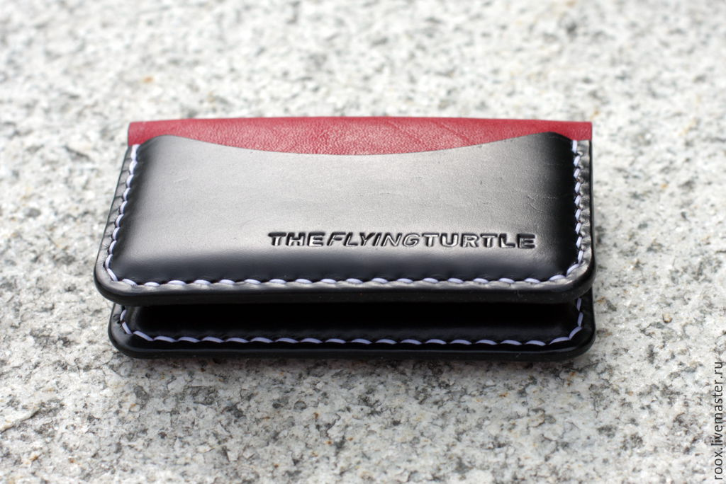 new products 6b72a 592e2 Business card holder made from Horween leather ( card case )