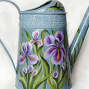 Цветы и флористика handmade. Livemaster - original item Watering can-painted watering houseplants Iris chic. Handmade.