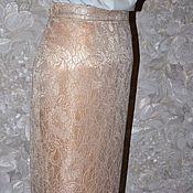 Одежда ручной работы. Ярмарка Мастеров - ручная работа Кружевная юбка карандаш. Handmade.