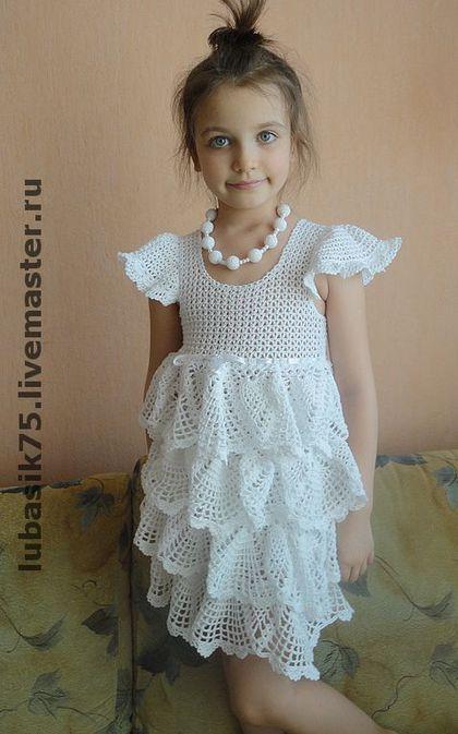 """Одежда для девочек, ручной работы. Ярмарка Мастеров - ручная работа. Купить платье """"Снежана"""". Handmade. Платье, хлопок 100%"""