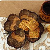 """Посуда ручной работы. Ярмарка Мастеров - ручная работа Тарелка деревянная """"Четырехлистник"""".. Handmade."""
